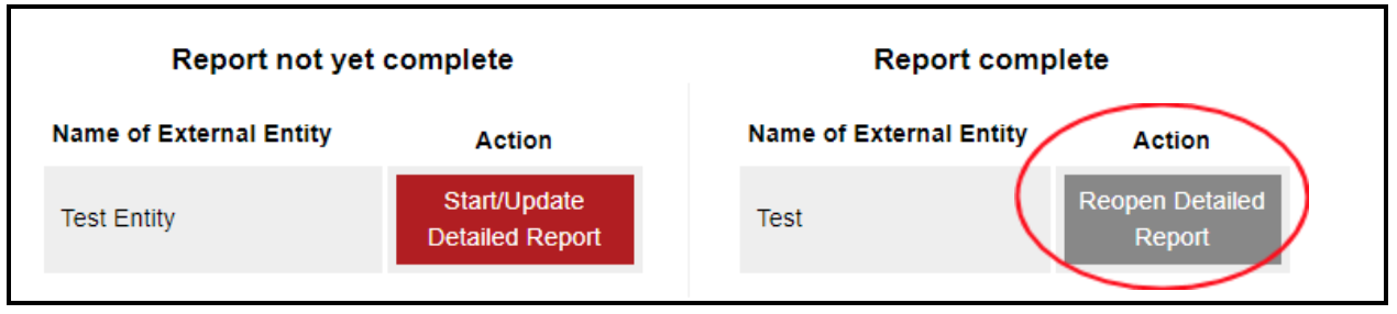 "Image with ""reopen detailed report"" button circled."