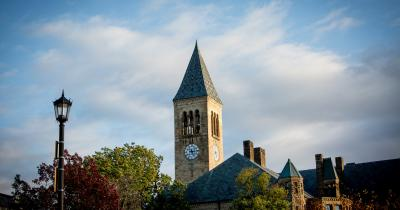 Cornell clock tower and horizon